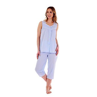 Slenderella PJ77233 Ensemble pyjama en coton tacheté Femme's