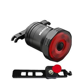 Älykäs polkupyörän takavalon automaattinen käynnistys / pysäytysjarrun tunnistus Vedenpitävä USB-lataus