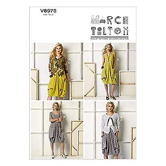 Vogue Sy mønstre 8975 savner kjole jakke størrelse L-XXL uklippet