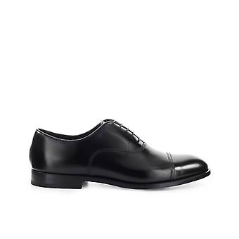 Doucal's Black Oxford Lace Up