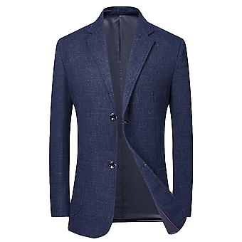 YANGFAN Men's Suit Jacket Classic Notched Flat Collar 2 Button Blazer