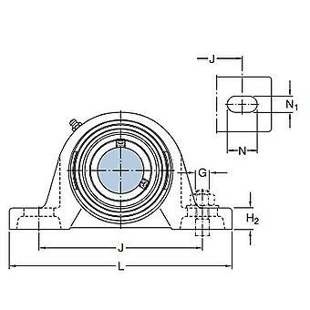 SKF FYTJ 20 TF Y bearing وحدات بيضاوية