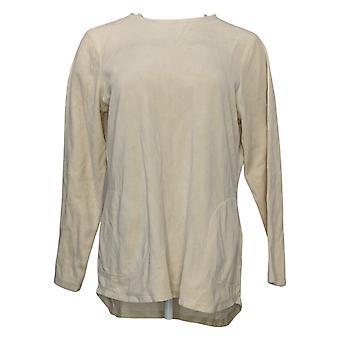 Denim & Co. Tunica in velluto a maniche lunghe top donna A260064