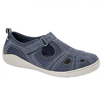 Boulevard Shyla Ladies Leather Casual Shoes Navy