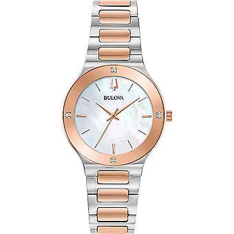 ブローバ 98R274 ウィメンズ ミレニアム ダイヤモンド ツートーン ブレスレット腕時計