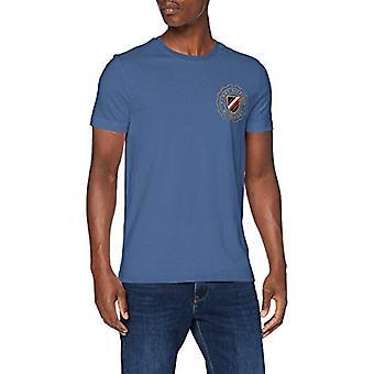 טומי הילפיגר קרסט חולצת טי חזה, כחול, איש קטן