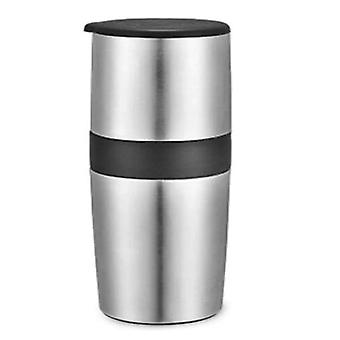 All in One Portable Manual Coffee Bean Grinder(Silver)