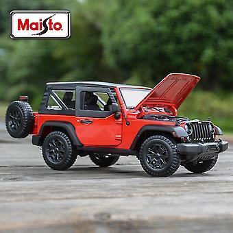 1:18 JEEP Willys Die Cast Vehicles Keräiltävät autolelut| Diecasts & Leluajoneuvot(Punainen)