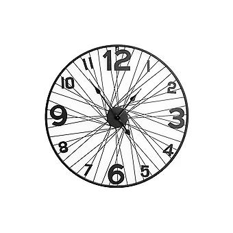 70cm Large Bike Wheel Wire Wall Clock Home Office Decoration