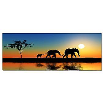 Wykres ścienny słonie afryki