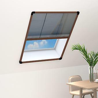 vidaXL hyönteiskarkote laskostettu ikkunat alumiininruskea 80x100 cm