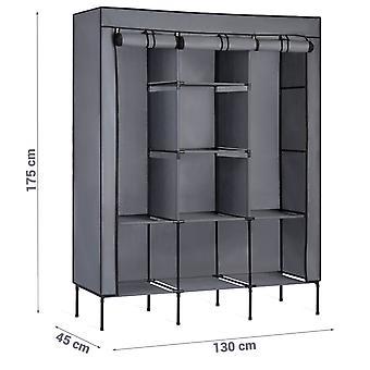 Szafa 45 x 130 x 175 cm – 8 półek – Grafit