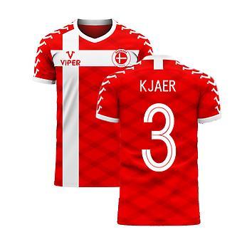 Denmark 2020-2021 Home Concept Football Kit (Viper) (KJAER 3)