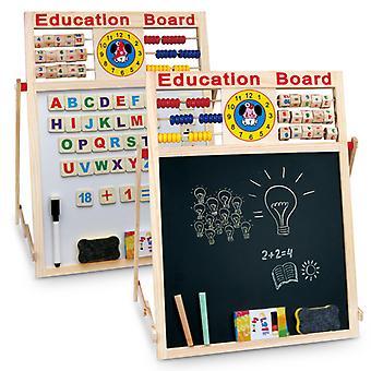 2 en 1 Enfants Chevalet Noir Blanc Planche Craie Dessin Écriture Enfants Éducatifs