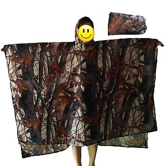 Camouflage bruin 220 * 145cm verdikte regenjas multifunctionele draagbare waterdichte rugzak homi2626