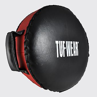 Tuf Wear Leather Combi Pad Shield Black / Red