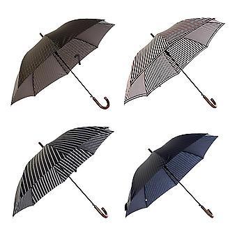paraply DKD hjem dekor blå svart rosa pongee (4 stk)
