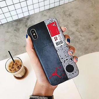 ホットフライマンジョーダンソフトシリコンカバーケース iphone 6 6s プラス 7 プラス 8 8plus x xxs max junmp ファッション電話ケースコック