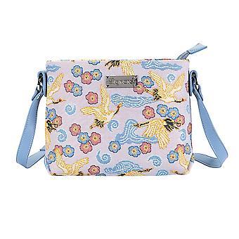 رافعة يابانية حقيبة كروس بودي | السيدات الزرقاء عبر أكياس الجسم | xb02 رافعة