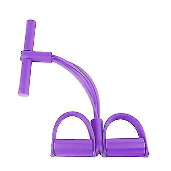 Многофункциональный фитнес йога Эластичные веревки Ленты (фиолетовый)