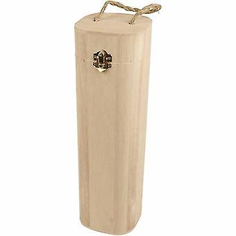 34cm puusta sylinteri viini laatikko koristella | Puiset laatikot käsi töitä varten