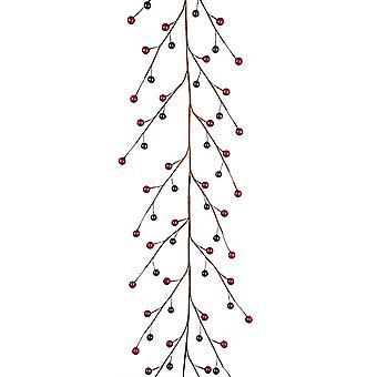 1.5m Slim Dark Cranberry Christmas Garland for Home Decoration