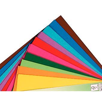 100 feuilles de papier origami carré - 15cm