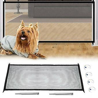 (110 * 75cm) Bærbar Magic Mesh Pet Hund Home Indendørs Pen Barrier Safe Net Guard Installer Hegn