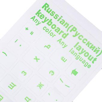 2Pcs toetsenbord stickers waterdichte zelfklevende multicolor cover sticker