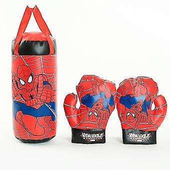 اللياقة البدنية لعبة الملحقات spiderman الاطفال لعبة قفازات الرمل دعوى عيد ميلاد الملاكمة لعبة رياضية في الهواء الطلق