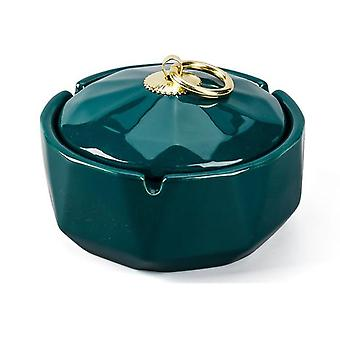 Ceramics Moden Windproof Ashtray With Lid For Tabletop Decor Smokeless