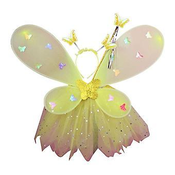 Femmes filles mignonnes jeu de rôle clignotant aile tutu jupe led glow headband fairy stick noël halloween cosplay costume