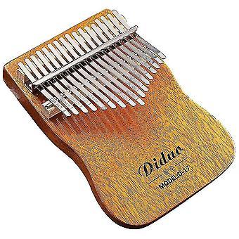 Kalimba thumb piano 17keys professional portable musical instrument for adult orange