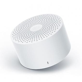 White bluetooth speaker AI control wireless portable mini stereo bass with microphone