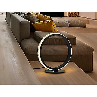 Schuller Ring Moderne Designer LED Dimmbar Ring Tbale Lampe Matt Svart