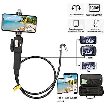 Steering Endoscope Photo Taking Video Recording Industrial Steerable Endoscope With 1m Snakelike Tube 8.5/5.5mm Lens