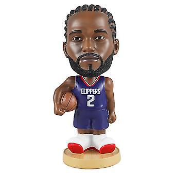 Venalisa Kawhi Leonard Figurine d'action Statue Bobblehead Basketball Doll Décoration