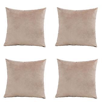 Taies d'oreiller décoratives en velours doux