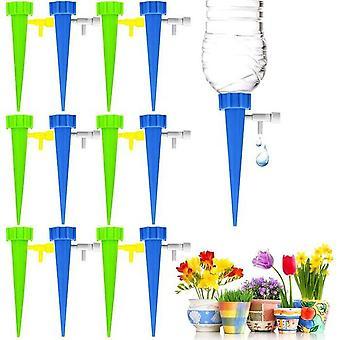 מערכת השקיה אוטומטית-12 חלקים מתכווננים מערכת השקיה אוטומטית-להשקיית צמחים גן