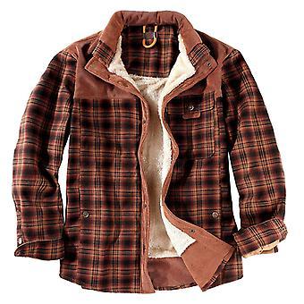menns vindtett fleece foret trykt jakke jakke knapp ned