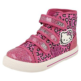 Girls Hello Kitty Norland Hi Top Canvas Trainer