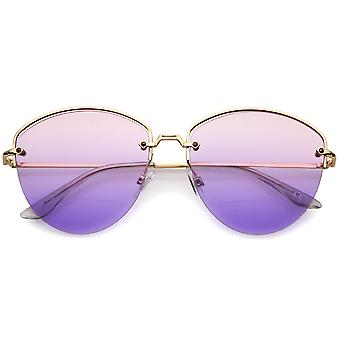 Nowoczesny Metal nosa Gradient obiektyw pół-bez oprawek okularów przeciwsłonecznych 60 mm