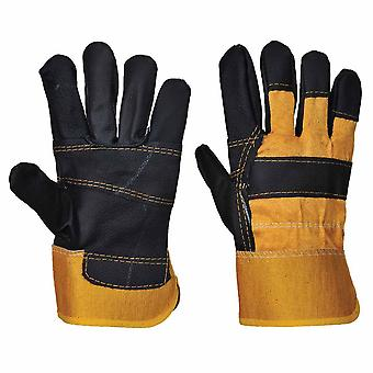 sUw-krava Split kožené skryť rukavice (1 pár Pack)