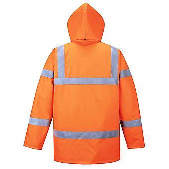 Portwest Mens Hi-Vis Safety Workwear Rail Track Side Traffic Jacket