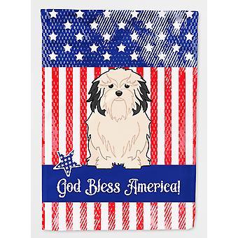 Carolines skatter BB3014GF patriotiske USALowchen flagg hage størrelse