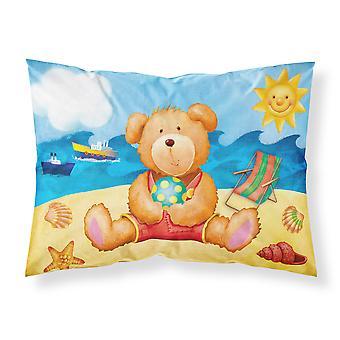 Teddy Bear on the Beach Fabric Standard Pillowcase