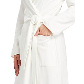 Féraud 3883035-10044 Women's Champagne White Cotton Robe Loungewear Bath Dressing Gown