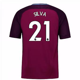 2017 / 18 mand City væk Shirt (Silva 21) - børn