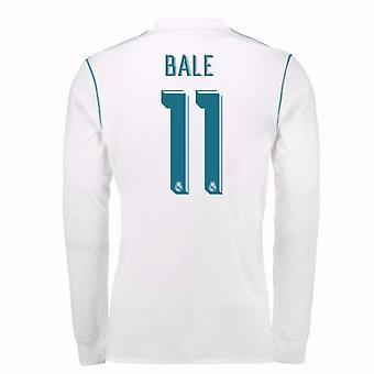 2017-18 real Madrid Long Sleeve Home skjorta (Bale 11)