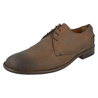 Mens Lambretta Brogue Style Shoes M384 - Cuero Leather - UK Size 12 - EU Size 46 - US Size 13